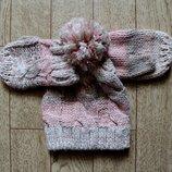 Новый набор шапочка и варежки Mothercare