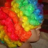 Парик карнавальный разноцветный.