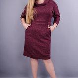Стильное платье супер батал. Материал ангора трикотаж Размеры 50 52 54 56 58, 60, 62, 64