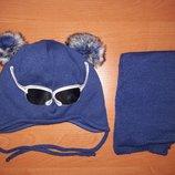 Набор шапка шарфик