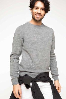 e4a50608278 серый мужской свитер De Facto  419 грн - кофты