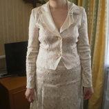 шикарный праздничный костюм тройка Catherine р 48