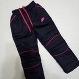 Зимние утепленные брюки для девочки на рост 116-134 см