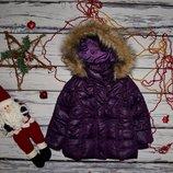 12 - 18 месяцев 86 см H&M Фирменный зимний дутик пуховик пальто для девочки