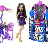 Monster High Scream & Sugar Cafe Playset and Cleo de Nile Doll Кукла Клео Монстер хай и кафе набор