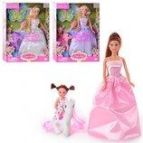 Кукла Defa 8077 с дочкой, пони и аксессуар.