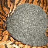 Супер шляпа темно-серого цвета,56см.,италия.