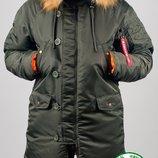 Парка, куртка Olymp Alyaska Slim Fit, р. S-7XL, нейлон, -30C, код cve-0007