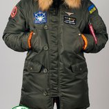 Парка, куртка Olymp Alyaska для патріотів, р. S-7XL, нейлон, -30C, код cve-0008