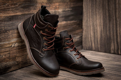652e82fc Мужские зимние ботинки Levi's Genuine, коричневые, натуральная кожа ...