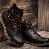 Мужские зимние ботинки Levi's Genuine, коричневые, натуральная кожа