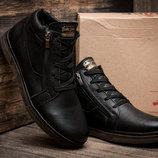 Зимние мужские ботинки Trike, на меху, натуральная кожа, черные