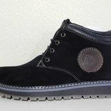 Замшевые мужские ботинки зимние