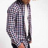 мужская рубашка De Facto в сине-бело-красную клетку