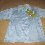 Новая рубашка на мальчика, на 1-2 года, см. замеры, Happy kids