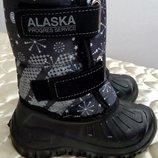 Сноубутсы-Сапоги Alaska зимние подростковые, 19,5-21,5 см по стельке валенка. Цвет - темно-синий