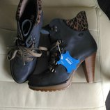 Кожаные ботинки mustang 37p