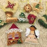 Елочные игрушки hand made