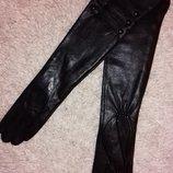 Длинные удлиненные высокие кожаные перчатки