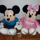 Мягкие плюшевые игрушки Мики и Минимаус из мультфильма Дисней Дісней Disney с клеймом.