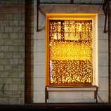 LED Гирлянда штора 144 лампочки, цвет золотистый желтый