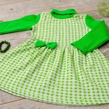 Нарядное платье для девочек из натурального полотна начес