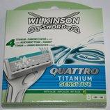 Сменные картриджи Schick Wilkinson Quattro Titanium упаковка 8 штук
