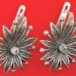 Серьги серебро 925 проба 6,55 грамма