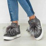 Распродажа Демисезонные и зимние женские слипоны / ботинки из валяной шерсти 36,37,38,39,40,41