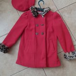 Поделиться Красивое пальто берет для девочки 3-4 года