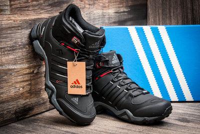b77e7911 Зимние кроссовки Adidas Fastr TEX, мужские, черные с красным, на меху