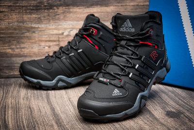 4a0f5617 Зимние кроссовки Adidas Fastr TEX, мужские, черные с красным, на меху.  Previous Next
