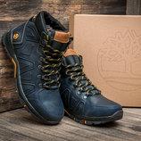 Зимние ботинки Timberland, мужские, темно-синие, натуральная кожа