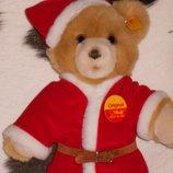 шикарный новогодний медвежонок Штайфф Steiff Германия оригинал кнопка 29 см