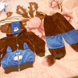 Фирменный велюровый костюм р.28 тм luli