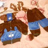 Фирменный велюровый костюм р.30 тм luli