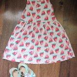 Платье клубнички от h&m