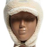 Качественные зимние шапки, шапочки Dembohouse с шерстяной отделкой 1-4 года