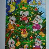 Набор для детского Творчества - красочные новогодние Наклейки