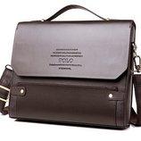 Уценка. Скидка. Каркасная мужская сумка-портфель Polo, формат А4. Уцкс85