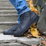 Ботинки мужские кеды кроссовки Forester кожа шерсть