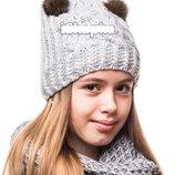 Зимние шапки флис на 5 - 12 лет