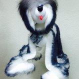 Собака марионетка большая пушистая Хаски, Йорк, Долмиатин. Опт и розница, производство