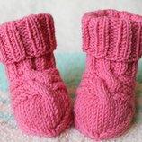 Носочки чистая шерсть вязаные
