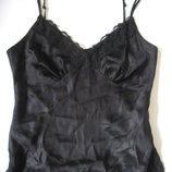 фирменная эксклюзивная шелковая маечка для сна 100% шелк, с вышивкой