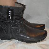 Чоботи ботинки шкіра зима marc німеччина розміри 41 42