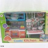 Кухня K1601A-3 газ.плита,часы,мебель,посуда,в кор. 48 13 31см