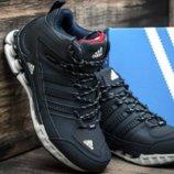 мужские зимние ботинки Adidas верх нубук, внутри мех 41-46р