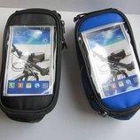 Велосипедная сумка сумка на раму велосипеда с держателем для смартфона GA-501