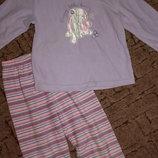 Флисовая пижама 5-6лет.
